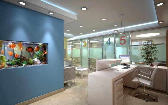 Cl nica dental art chamarel interior design studio interiorismo decoraci n - Decoracion de clinicas dentales ...